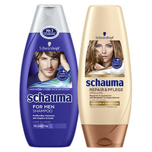 Schauma Shampoo oder Spülung versch. Sorten, jede 400/250-ml-Flasche