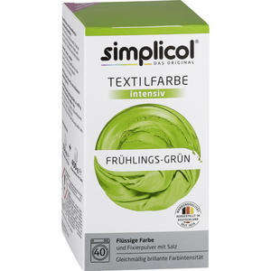 simplicol Textilfarbe intensiv Nr. 1813 Frühlings-Grün 1 Set