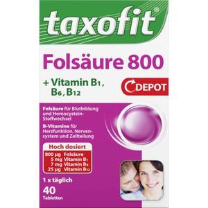 taxofit Folsäure 800 Depot