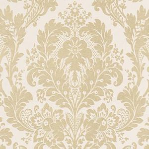 Vinyltapete KINGSTON - beige-weiß metallic - 10 Meter
