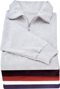 Sweatshirts/ Stehbundshirts mit Reißverschluss, farblich sortiert