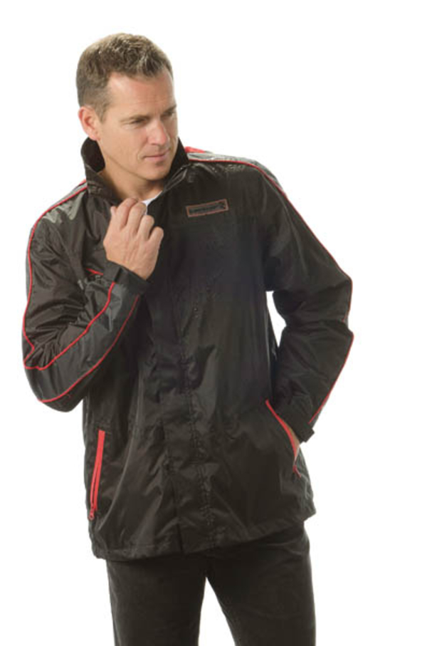 Regenjacke, Farbe rot/schwarz Dunlop