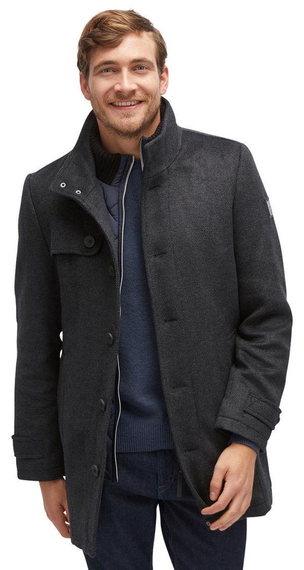 16dc10871d26 Tom Tailor Coat Wollmantel mit gestepptem Futter, black, XXL von ...