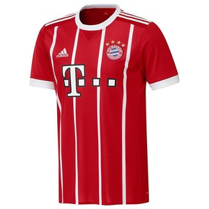 Fußballtrikot FC Bayern München Home 2017/2018 Erwachsene rot ADIDAS