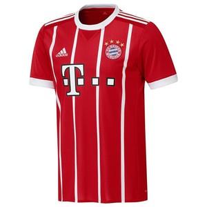 Fußballtrikot FC Bayern Home Replica Kinder rot ADIDAS