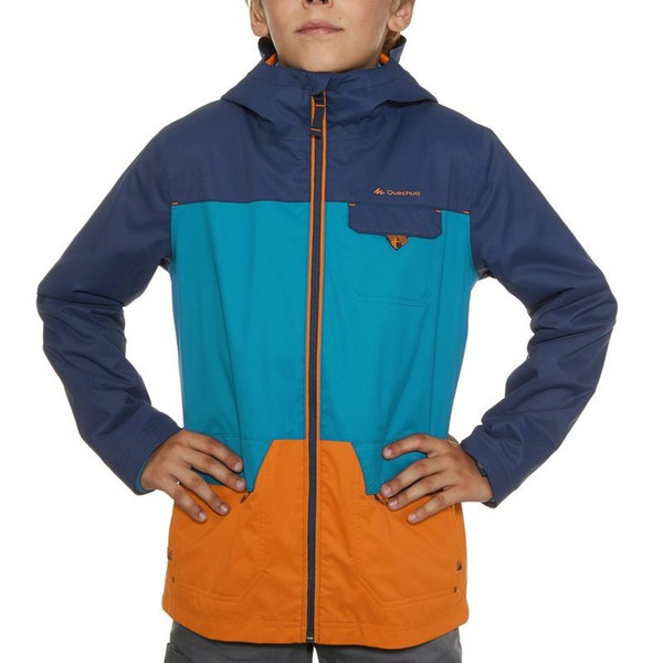 3 in 1 Jacke Hike 500 warm Jungen blau QUECHUA