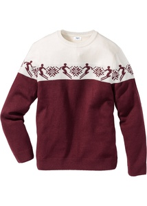 Norweger-Pullover mit Wolle Regular Fit