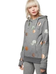 Kapuzen-Sweatshirt mit schimmernden Punkten