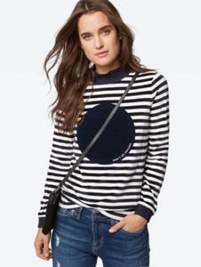Gestreiftes Sweatshirt in Nicki-Qualität