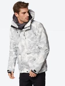 Ski-/Snowboard Jacke mit Allover-Musterung