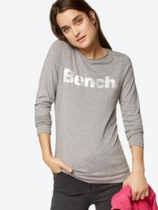 Langarmshirt mit schimmerndem Bench-Schriftzug