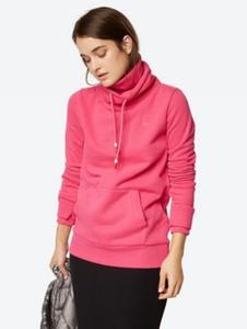 Sweatshirt mit doppeltem Stehkragen und Tunnelzug