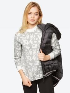Gemustertes Sweatshirt mit hohem Stretch-Anteil