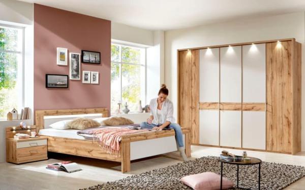 Wiemann - Schlafzimmer Donna 2 in Balkeneiche-Optik/champagner von ...