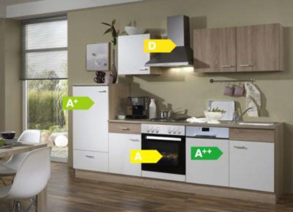Menke Küchen Küchenzeile Sonja 270 cm inkl. Geschirrspüler -  Glaskeramikkochfeld von