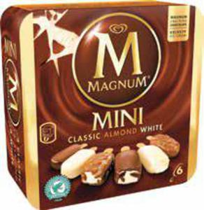 6er-Pack Mini Magnum Classic, Almond and White