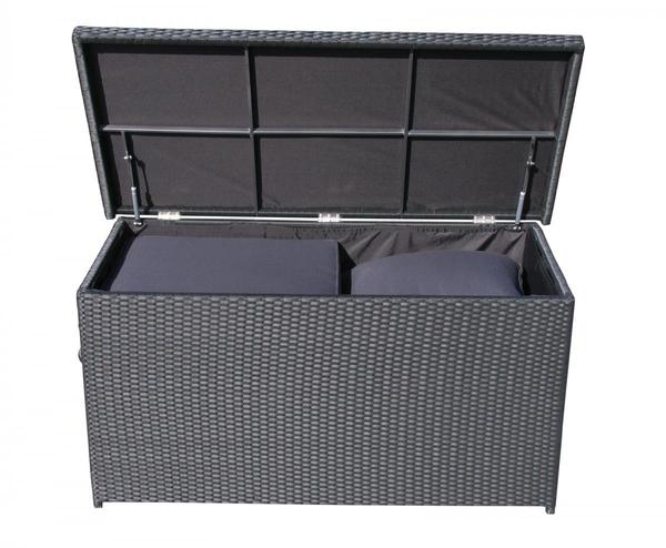 grasekamp rattan kissenbox xxl auflagenbox gartenbox truhe lounge schwarz von norma f r 249. Black Bedroom Furniture Sets. Home Design Ideas