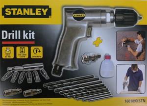 Stanley Druckluft Bohrmaschinen - Set Kompressor Zubehör, Drill kit