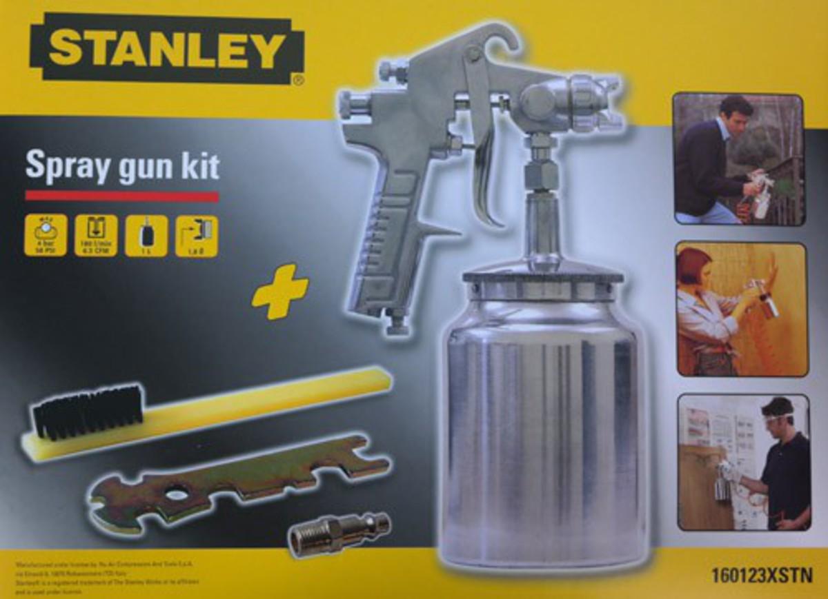 Bild 1 von Stanley Druckluft Saugbecher - Farb - Spritz - Pistole, Spray gun kit metal