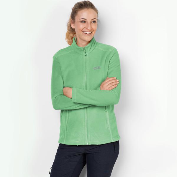 bieten viel Sonderkauf zu verkaufen Jack Wolfskin Fleecejacke Frauen Moonrise Jacket Women XXL spring green