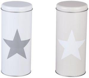 Kaffeepads-Dose - aus Metall - 7,5 x 18 cm - 1 Stück