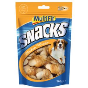 MultiFit Snacks Chicken Wraps 2x140g