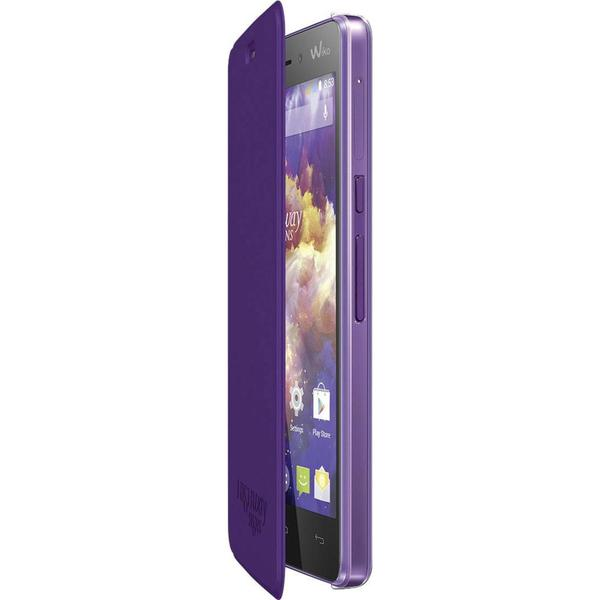 WIKO Flip Cover Flip Cover Passend für: Wiko Highway Signs Lila