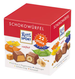 RITTER SPORT             Schokowürfel Vielfalt, 176g
