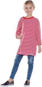 Kostüm Ringelshirt langarm garngefärbt rot/weiß Gr. 128