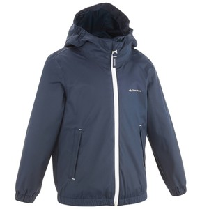 Regenjacke Arpenaz 500 light Boy Kinder marineblau QUECHUA