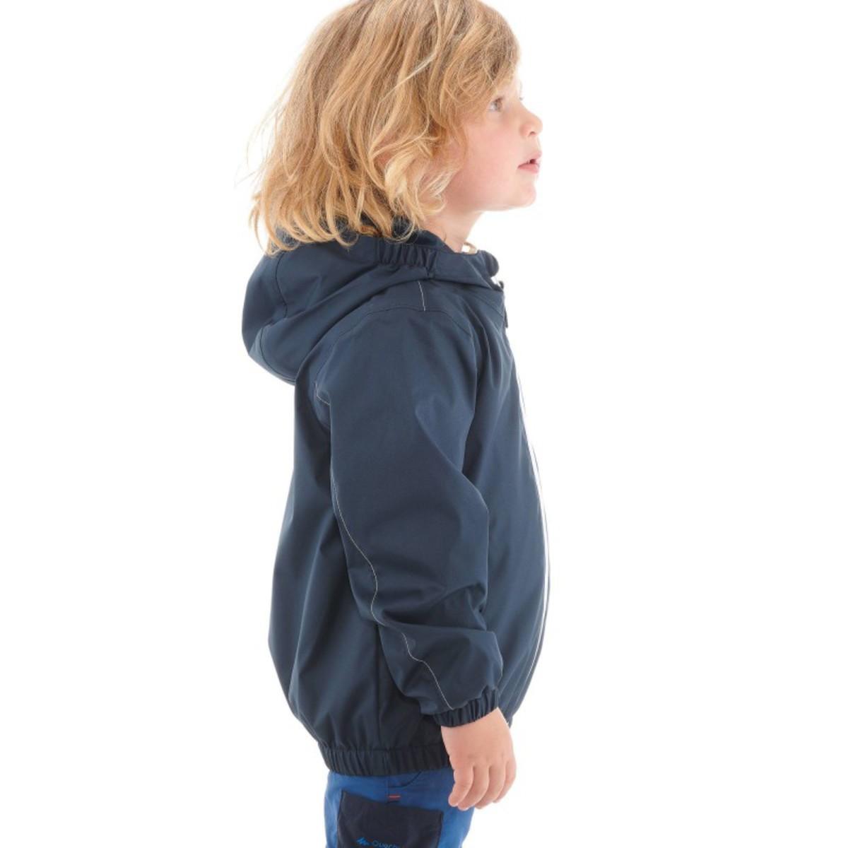 Bild 4 von Regenjacke Arpenaz 500 light Boy Kinder marineblau QUECHUA