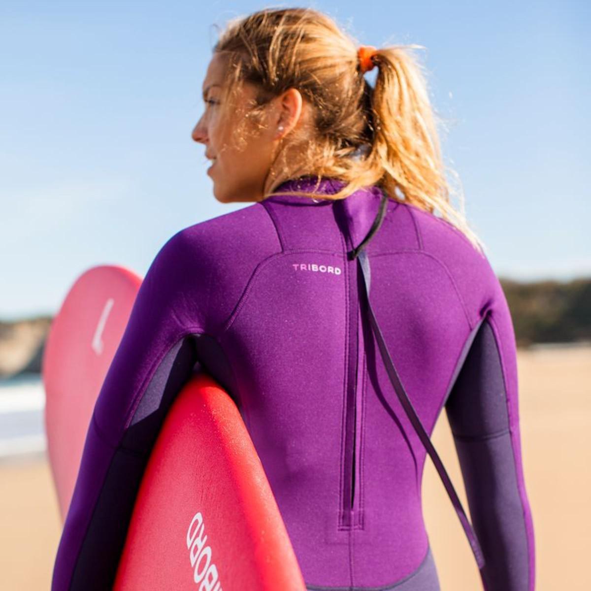 Bild 5 von TRIBORD Neoprenanzug Surfen 100 Neopren 2/2mm Damen violett, Größe: XS