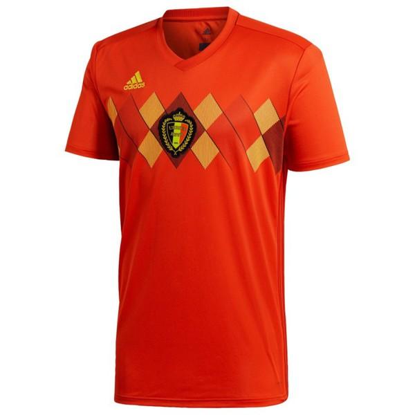 Fußballtrikot Belgien Home Replica 2018 Kinder orange ADIDAS