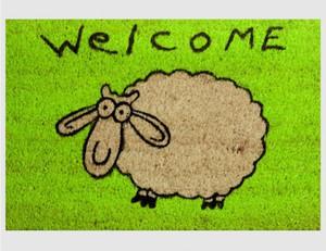 Fußmatte Schaf grün