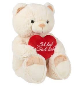 BOB der Bär             Teddybär, besticktes Herz, 65 cm