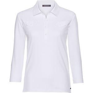 Adagio Damen Poloshirt, 3/4-Arm, uni