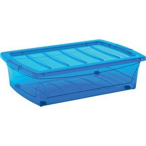 Aufbewahrungsbox Home XM mit 4 Rollen Blau