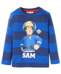 "Feuerwehrmann Sam - Langarmshirt - gestreift, ""Sam"""