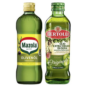Bertolli Olivenöl oder Mazola Olivenöl jede 500-ml-Flasche