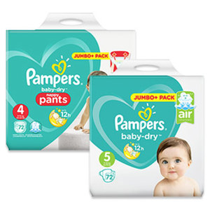 Pampers Windeln baby-dry oder pants,  jede Jumbo+ Packung, je