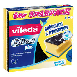 Vileda 6er Pack Glitzi Plus Schwämme