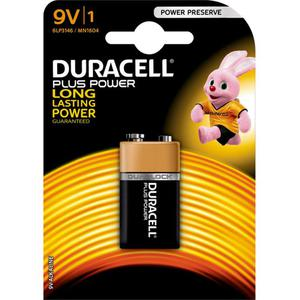 Duracell Plus Power Alkaline 9 V Batterie