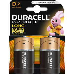 Duracell Plus Power Alkaline D Batterie