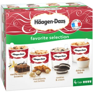 Häagen-Dazs Favorite Selection 4x100ml