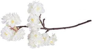 Kirschblütenzweig - aus Kunststoff - 40 cm - in creme