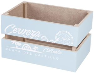 Deko-Kiste - aus Holz - blau - verschiedene Größen