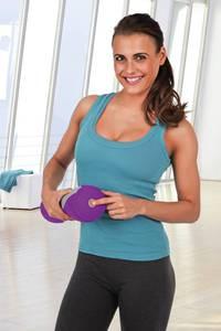 Massagerolle Vibration, 3 V grau/lila VitalMaxx