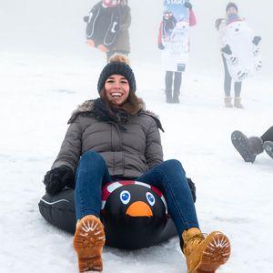 Snow Tube Pinguin, B:69cm x L:110cm, schwarz