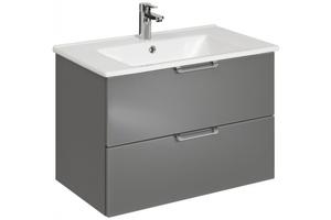 Pelipal Waschtischunterschrank Ulm mit Keramikbecken, 54x75x45 cm