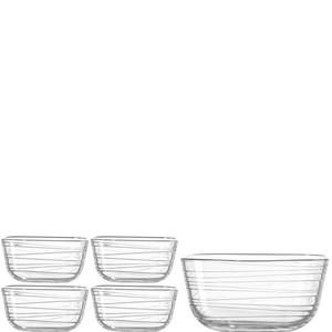 LEONARDO SCHÜSSELSET Glas, Weiß